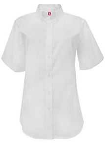 White Short Sleeve Pinpoint Oxford Shirt - SFDA