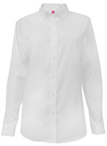 White Long Sleeve Pinpoint Oxford Shirt - SFDA