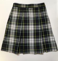 Girls Box Pleat Plaid Skirt - SFDA
