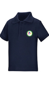 Toddler Short Sleeve Pique Polo w/logo- PTL