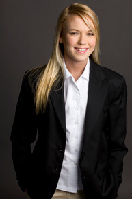 Junior Single Breast Blazer in Black - MIT