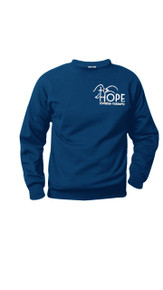 Crewneck Sweatshirt Navy w/Optional Hope Logo