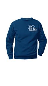 Crewneck Sweatshirt Navy w/Optional Hope Logo