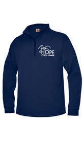 Quarter Zip Pullover Sweatshirt Navy w/Optional Hope Logo