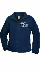 Fleece Full Zip Jacket Navy w/Optional Hope Logo