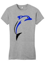 Girls Gray PE Shirt with PE Logo - Dobson