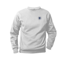 Ash Gray Fleece Crewneck Sweatshirt with Logo - Blessed Sacrament
