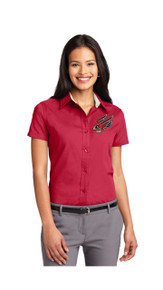 Faculty Ladies Short Sleeve Oxford - FC