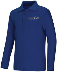Classroom Unisex Royal Interlock Polo with Logo - OLOJ