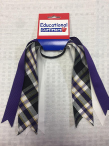 Ribbon Streamer Plaid 2M