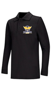 Polo - Classroom Interlock Long Sleeve Unisex w/VCA Logo