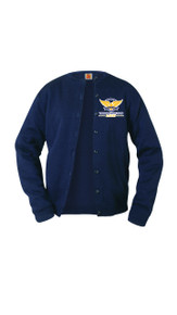 Sweater - Girls Fine Gauge Cardigan w/VCA Logo