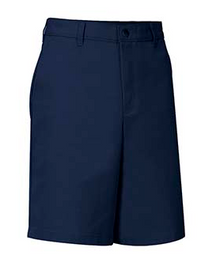 Little Boys Flat Front Shorts - Navy Only