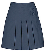 Little Girls Girls Skort - Two Tab w/Pleats - Navy Only