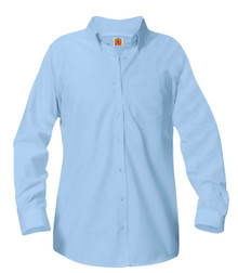 Female Long Sleeve Oxford Light Blue