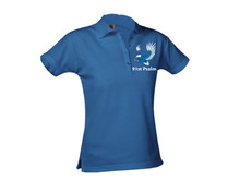 Girls Pique Short Sleeve Polo w/91st Psalm Logo