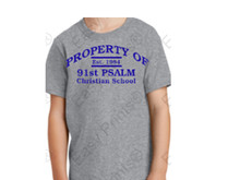Gym Shirt w/91st Psalm Logo