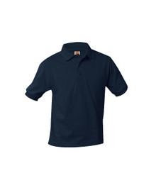 Jersey Knit Short Sleeve Polo Shirt