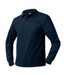 Pique Long Sleeve Polo Shirt