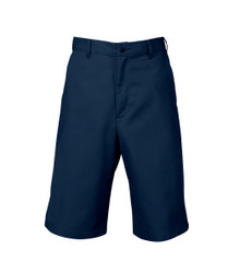 Mens Plain Fornt Twill Long Shorts, Relaxed Fit