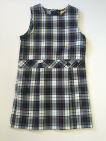 Girls Jumper - Drop Waist in Plaid 8B