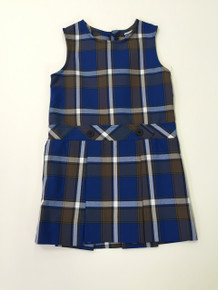 Grades K-4th Only - Girls Jumper - Drop Waist in Plaid 73