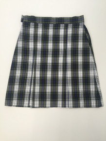 Girls Box Pleat Plaid Skirt - ICCS