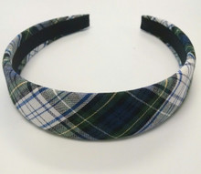 Padded Headband in Plaid 80
