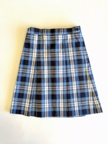 Girls Skirt - Center Box Pleat in Plaid 76