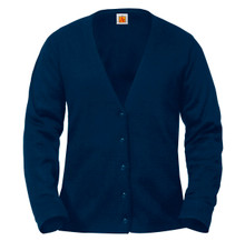 Female Fine Gauge V-Neck Cardigan