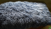 Mongolian  Tibet   Lamb Fur Rug  Plate  Throw Indigo blue New  genuine USA made