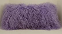 Lavender Mongolian lamb pillow lilac