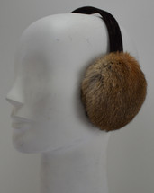 Real  Rabbit Fur Earmuffs Natural grey and brown New Made in USA