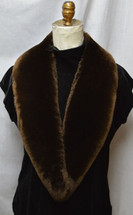Real  Beaver Fur Collar Sheared Plucked Detachable New  made in the U.S.A.