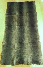 Fur Rug PlateThrow Real Laser Sheared Rabbit Dyed Charcoal New