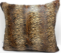 Real Hair on Calfskin dyed animal print  fur  cushion new made in the USA
