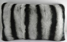 Real Genuine Rex Rabbit Fur Pillow Dyed Chinchilla cushion  New made in USA