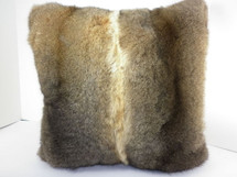 Real Genuine Natural New Zealand Opossum Fur Pillow New made in USA authentic