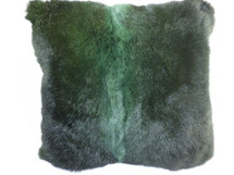 Green New Zealand Opossum Fur Pillow Real Genuine New made in USA cushion
