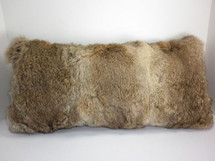 Real Genuine Natural Long Hair Rabbit Fur  Pillow New made in USA cushion