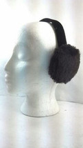 Real Dark Brown Shearling Lamb  Fur Earmuffs New  (made in the U.S.A.)