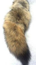 Real Coyote Tail Fur Key Chain New