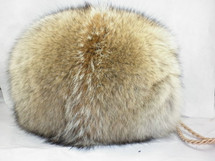 Real Coyote Fur Hand Muff New made in usa.Handmuff  down satin lining