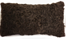 Real  Kalgan Lamb Fur Dyed Brown  Pillow New made in USA