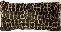 Fur Pillow Real  Dyed Giraffe Animal Print Sheared Rabbit  made in USA cushion
