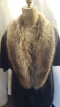 Raccoon Collar Real genuine American raccoon  (made in the U.S.A.)
