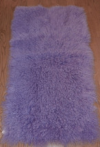 Real Mongolian  Tibet  Lavender  Lamb Fur Rug  Plate  Throw Lilac  New  genuine