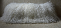 Mongolian Wool lamb Pillow made in usa Real genuine Tibet sheepskin cushion rrfurs.com