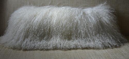 Mongolian Wool lamb Pillow made in usa Real genuine Tibet sheepskin cushion rrfurs.com