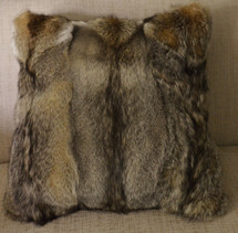 Real Fox  Fur Pillow  Real Kit Fox New made in USA authentic cushion
